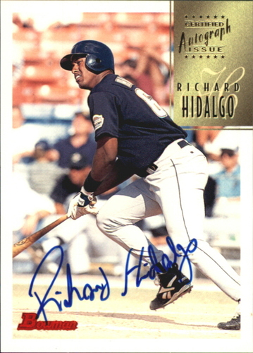Photo of 1997 Bowman Certified Blue Ink Autographs #CA38 Richard Hidalgo