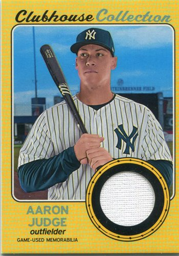 Photo of 2017 Topps Heritage Clubhouse Collection Relics Gold 75/99 Aaron Judge