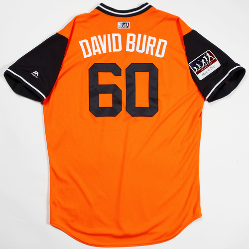 "Photo of Dallas ""David Burd"" Keuchel  Houston Astros Game-Used 2018 Players' Weekend Jersey"