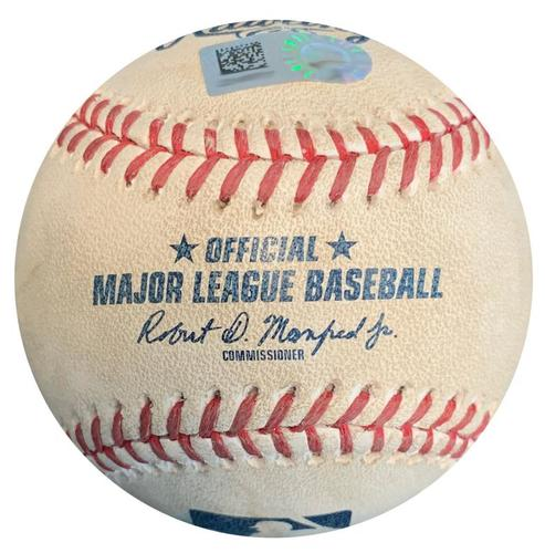 Photo of Game-Used Baseball from Pirates vs. Reds on 4/6/18 - Hamilton Walk, Winker Foul