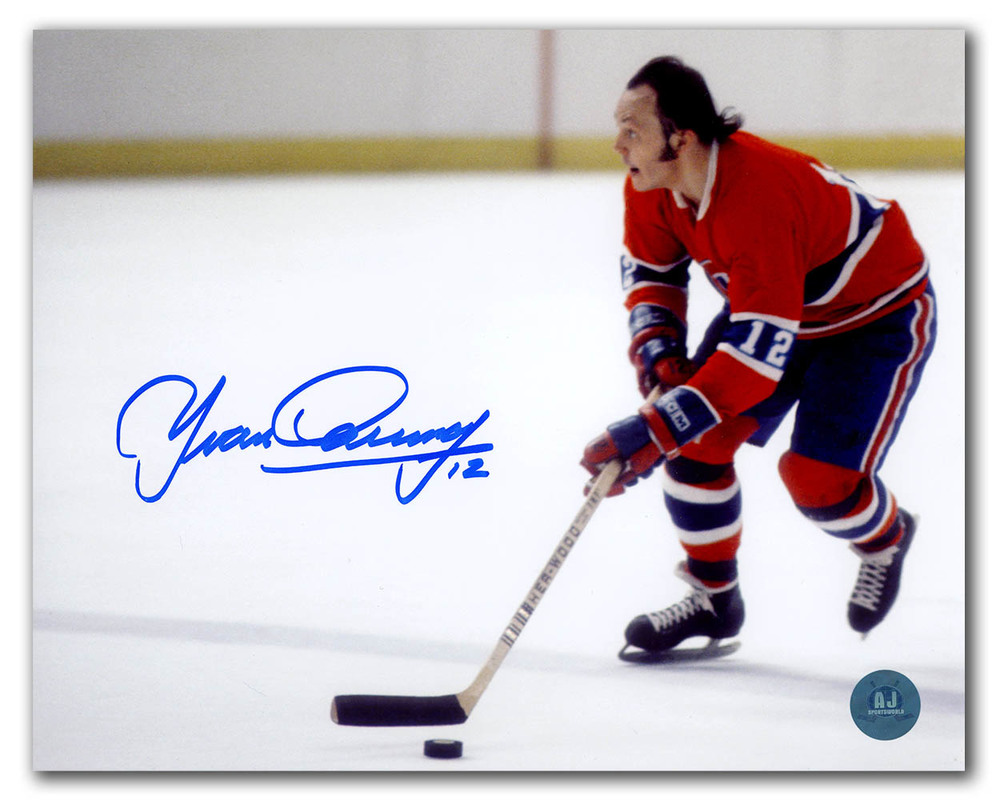 Yvan Cournoyer Montreal Canadiens Autographed Roadrunner 8x10 Photo