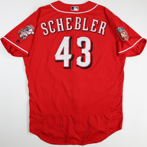 Photo of 2016  Spring Training -  Spring Training Used Jersey - Scott Schebler (Reds) - Size 48