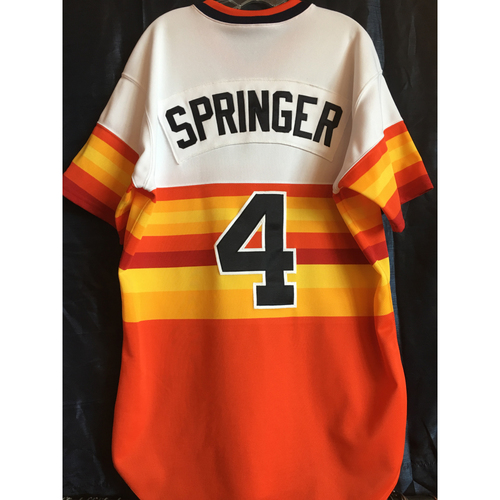 sports shoes cef47 15e4d MLB Auctions | George Springer 2018 Team-Issued Throwback ...