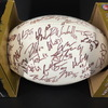 Patriots - 2010 Team Multi Signed Ball Over 45 Signatures Including Kevin Faulk, Brian Hoyer, Sammy Morris, Fred Taylor, Wes Welker, Rob Gronkowski, Matthew Slater, Stephen Gostkowki, Aaron Hernandez