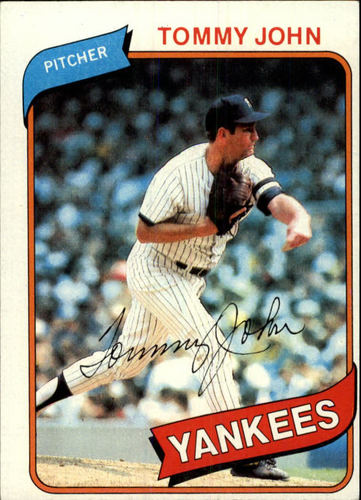 Photo of 1980 Topps #690 Tommy John