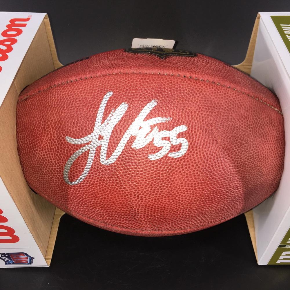 NFL - Cowboys Leighton Vander Esch Signed Authentic Football
