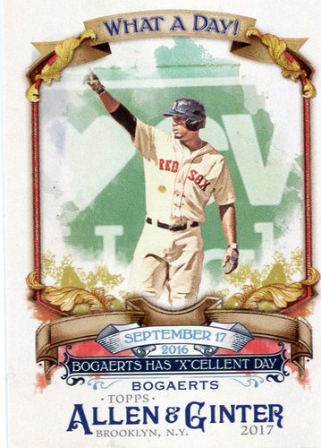 Photo of 2017 Topps Allen and Ginter What a Day #WAD16 Xander Bogaerts