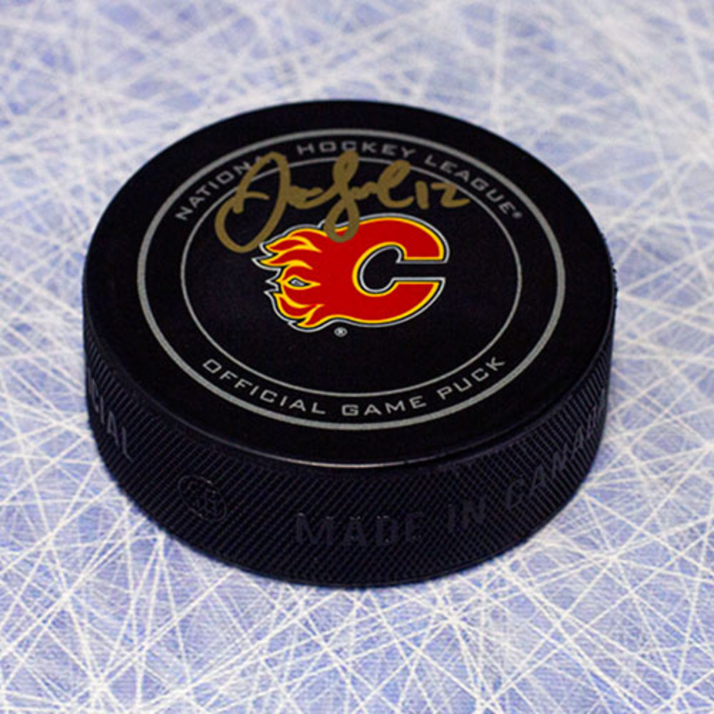 Jarome Iginla Calgary Flames Autographed Official Game Puck