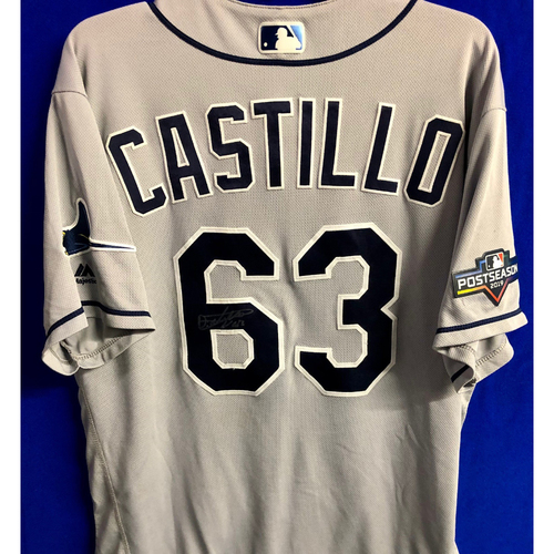 Photo of Team Issued Postseason Autographed Jersey: Diego Castillo