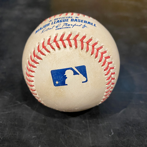 Photo of 2021 Game Used Baseball used on 4/28 vs. COL - T-5: Alex Wood to Yonathan Daza - Strike Out Swinging