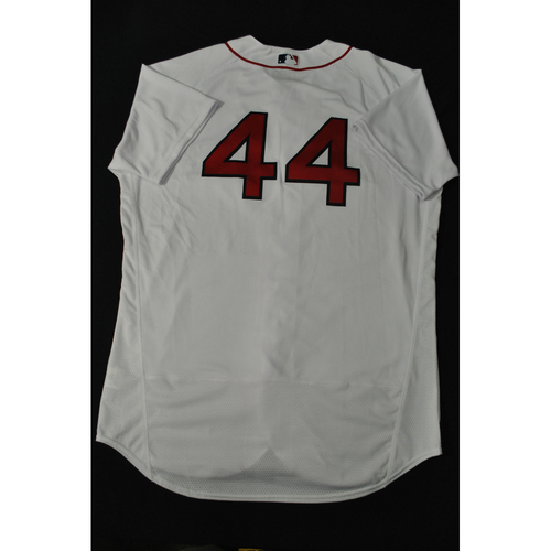 Photo of Hank Aaron Chasing the Dream Foundation: Xander Bogaerts 2021 MLB All-Star Workout Day BP-Worn # 44 Jersey