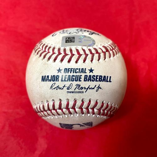 Photo of Game-Used Baseball - Christian Walker BB, Josh Rojas Double vs. Pierce Johnson - Padres @ D-backs 8/13/2021