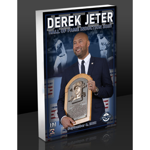 """Photo of MLB AUCTIONS EXCLUSIVE: Derek Jeter """"HOF Induction"""" Acrylic Block Collection #7 - Series of 7!"""