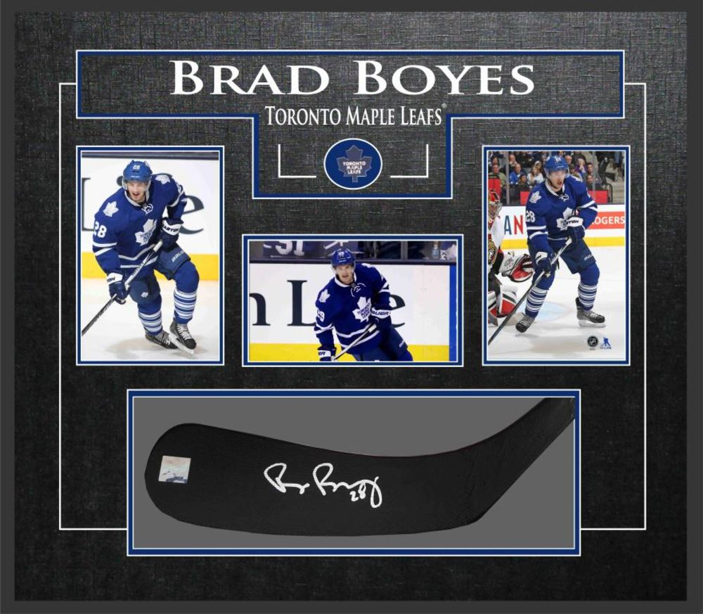 Brad Boyes - Signed & Framed Stickblade - ft. Toronto Maple Leafs Photo Collection