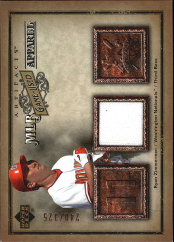 Photo of 2006 Artifacts MLB Game-Used Apparel #RZ Ryan Zimmerman Jsy/325