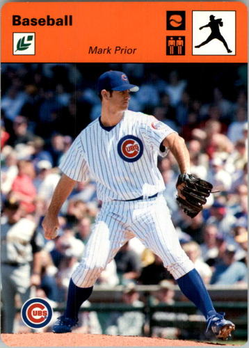 Photo of 2005 Leaf Sportscasters 30 Orange Throwing-Ball #28 Mark Prior