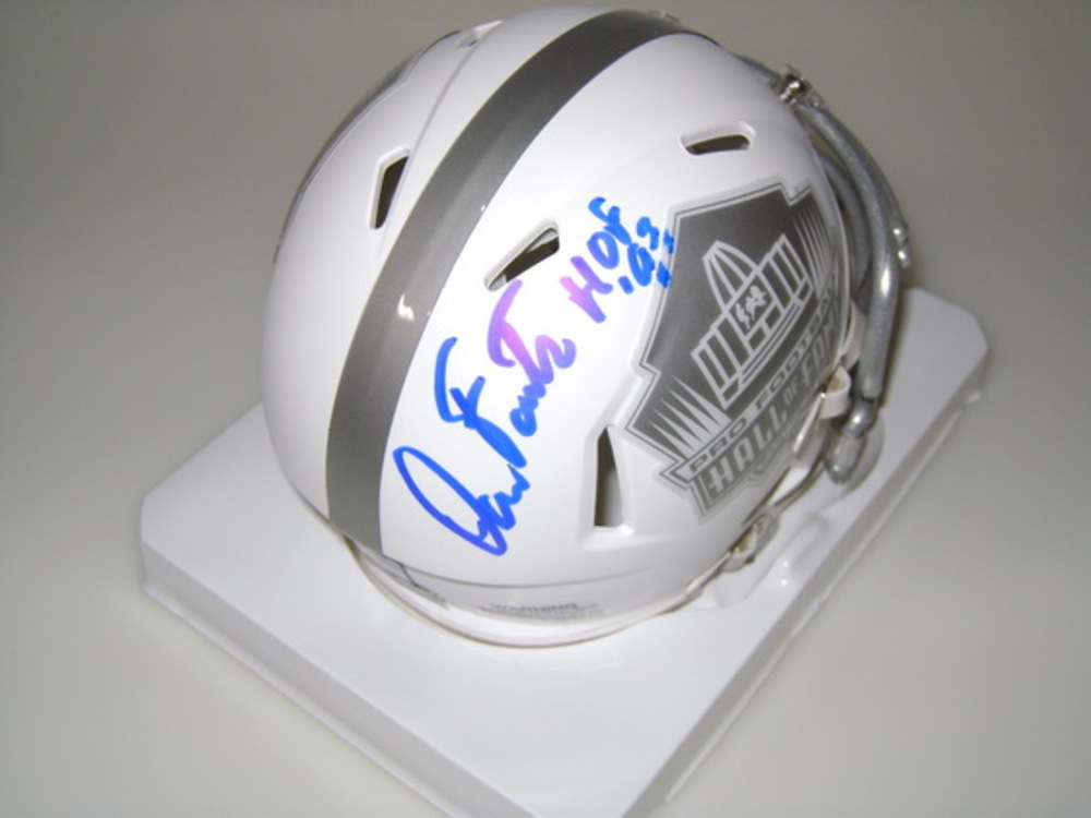 HOF - CHARGERS DAN FOUTS SIGNED HALL OF FAME ICE MINI HELMET