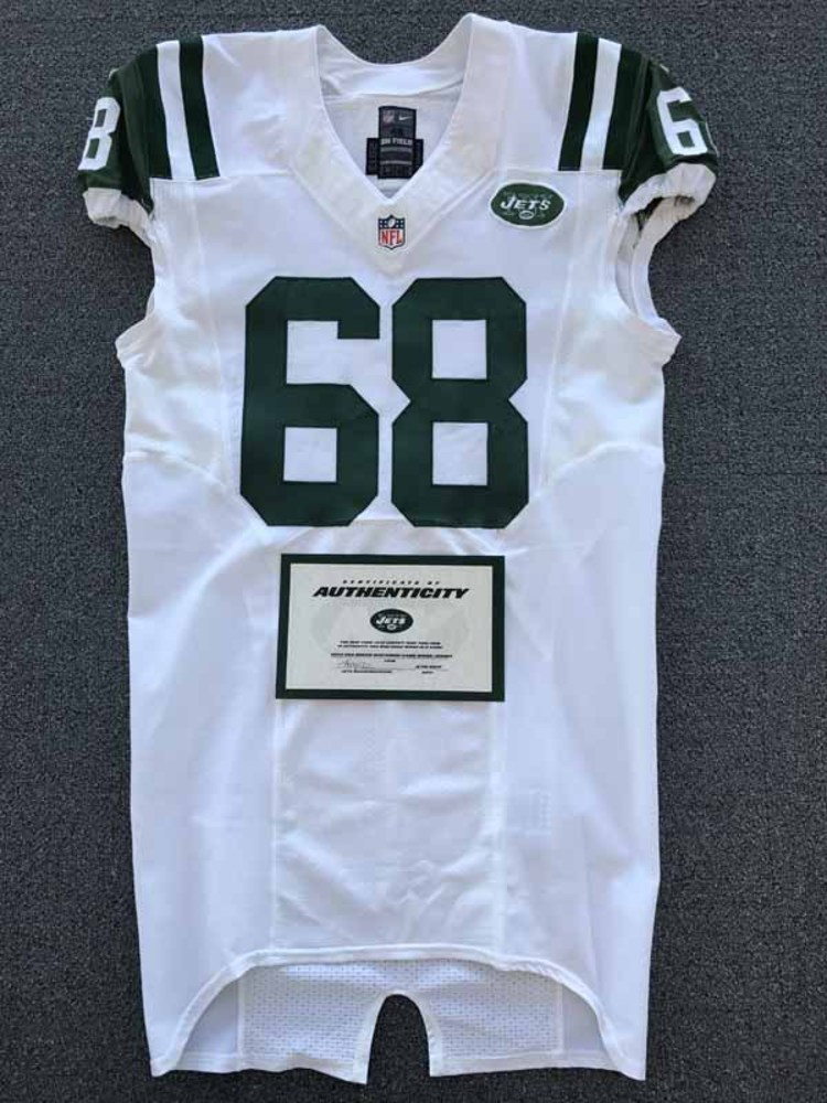 New York Jets - 2014 #68 Breno Giacomini Game Worn Jersey