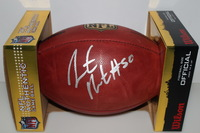 CHIEFS - JUSTIN HOUSTON SIGNED AUTHENTIC FOOTBALL