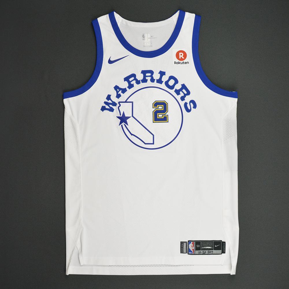Jordan Bell - Golden State Warriors - Classic Edition 1984-87 Home Style Game-Worn Jersey - 2017-18 Season