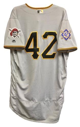 Photo of Gregory Polanco Game-Used 2018 Jackie Robinson Day Jersey - 1 for 5, Run Scored