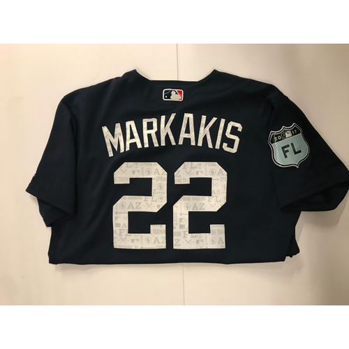 official photos e306f f2409 MLB Auctions | Nick Markakis Game Used 2017 Spring Training ...