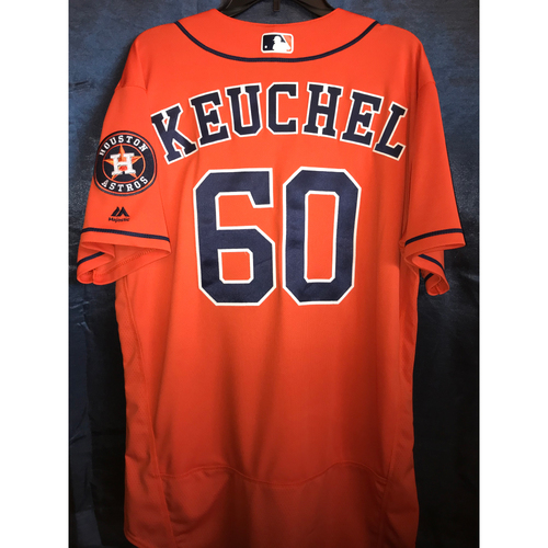 Photo of 2018 Dallas Keuchel Game-Used Orange Alternate Jersey