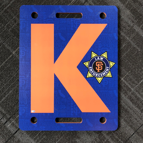 "Photo of 2018 San Francisco Giants - Law Enforcement Appreciation Night - Team Issued ""K Board"""