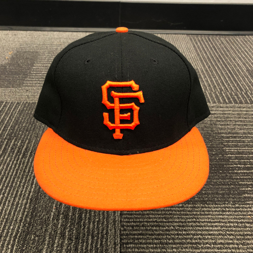 Photo of 2016 Game Used Orange Bill Cap Worn by #1 Ehire Adrianza - Size 7 3/8