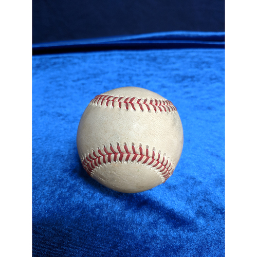 Photo of Game Used Baseball: Pitcher: Ty Buttrey, Batter: Christian Yelich (Single) - 4-8-2019 vs. MIL