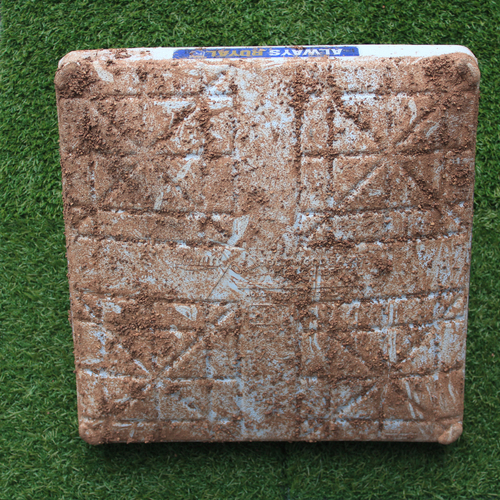 Photo of Game-Used 1st Base: Albert Pujols 3,102nd Career Hit (Innings 6-9 - LAA @ KC - 4/28/19)
