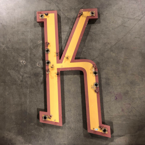 "Photo of AT&T Park Neon Letter ""K"" - 31.5""x17.5""x1"""