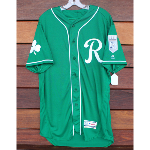 Photo of Team-Issued St. Patrick's Day Jersey: Jensine Guzman (Size - 46)