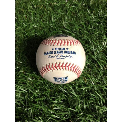 Photo of 20th Anniversary Game Used Autographed Baseball: Ryan Yarbough (ROOKIE SEASON) strikes out Gary Sanchez - September 24, 2018 v NYY