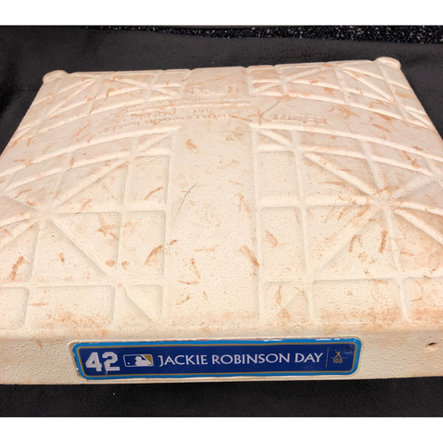 Photo of 2019 Jackie Robinson Day Game Used Second Base