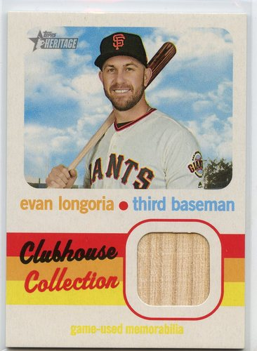 Photo of 2020 Topps Heritage Clubhouse Collection Relics #CCREL Evan Longoria