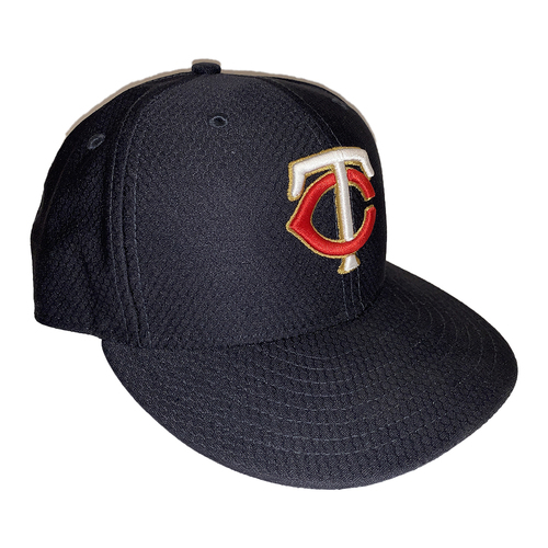 Photo of Minnesota Twins 2019 Team-Issued Navy Batting Practice Cap With Gold Outline - Choose Your Number and Size!
