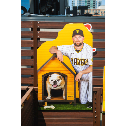 Photo of Kirby Yates Autographed Pet Cutout (Not MLB Authenticated, COA Included) and PupBox