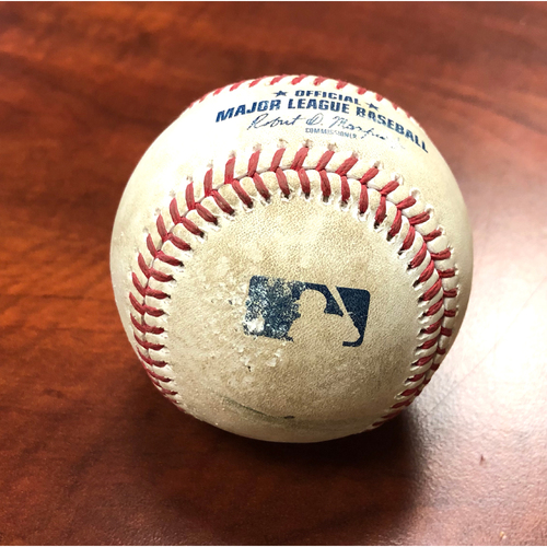 Photo of Game-Used Baseball: Pitcher - Yusmeiro Petit | Batter - Fernando Tatis Jr. 2-Run Home Run (15 - Career #37) - Top 7 - 9/6/20 vs SD