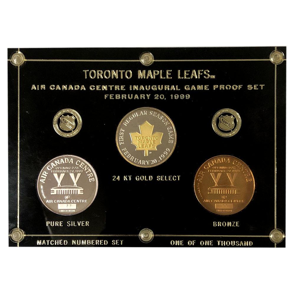The Air Canada Centre Inaugural Game Coin Set w/Plaque