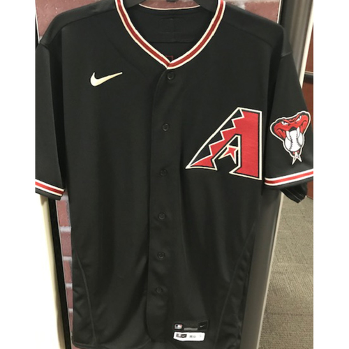 Photo of Mike Leake 2020 Team-Issued Black Alternate Jersey - Size 40TC + 1S