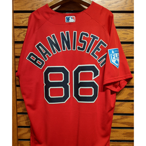 Photo of Brian Bannister #86 Red Team Issued 2019 Spring Training Jersey