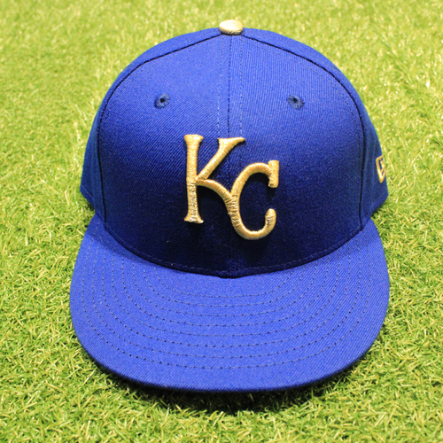 Photo of Game-Used 2020 Gold Hat: Mike Montgomery #21 (Size 7 1/4 - DET @ KC 9/25/20)