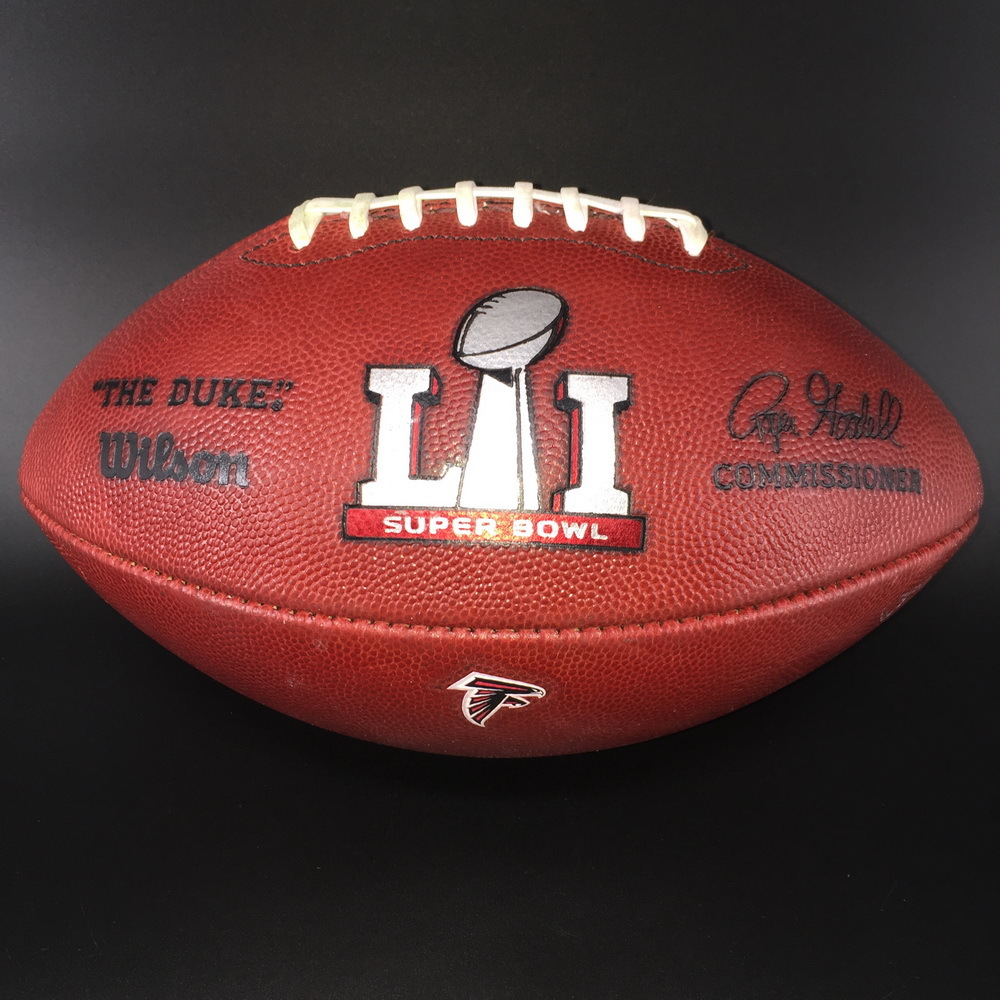 Super Bowl 51 Game Used Authentic Football Falcons Offense Patriots Defense - benefitting The Leukemia & Lymphoma Society