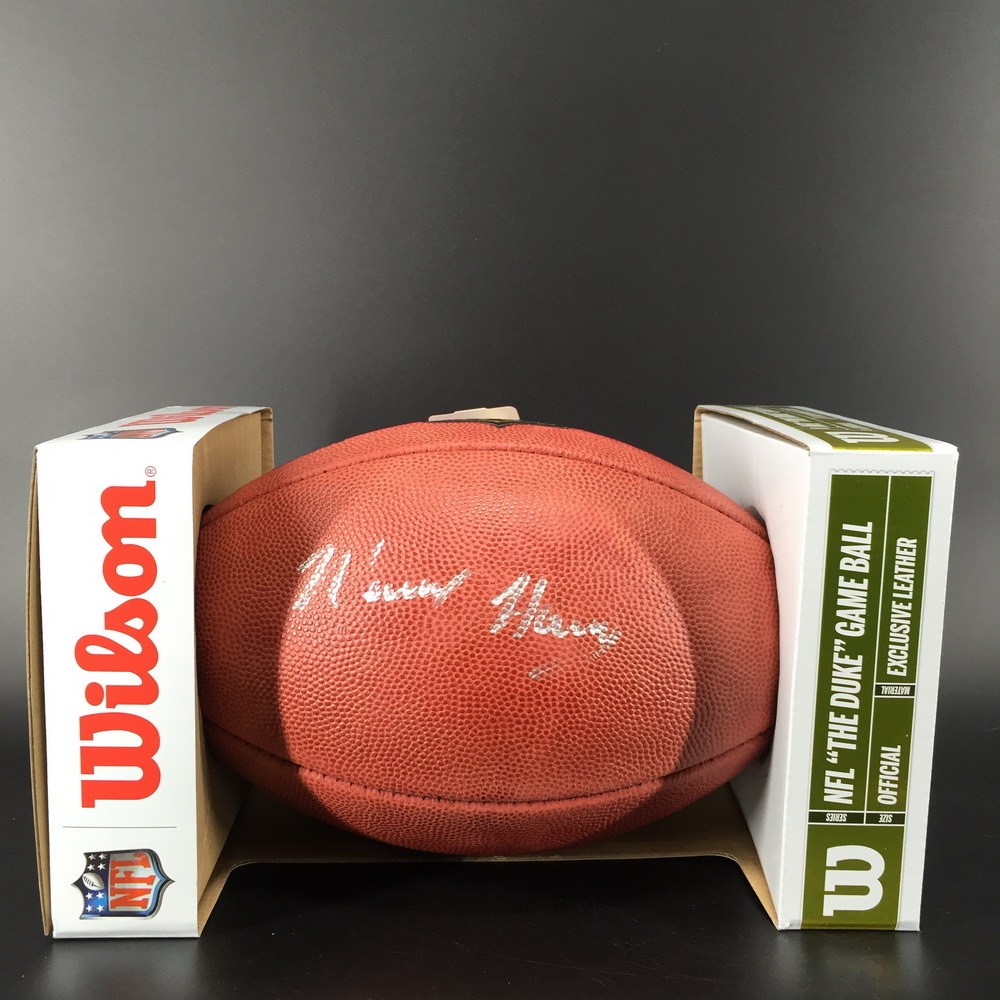 Patriots N'Keal Harry Signed Authentic Football - This auction benefits The Canadian Red Cross
