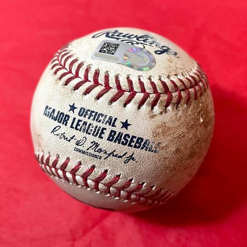 Photo of Game-Used Baseball - David Peralta Single vs. Matt Strahm - Padres @ D-backs 8/14/2021 (No Hitter Night)