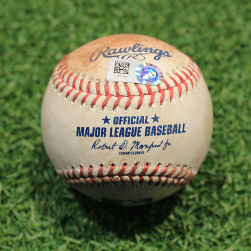 Photo of Game-Used Baseball: Lucas Giolito 632nd Career Strikeout (CWS@KC 7/28/21)
