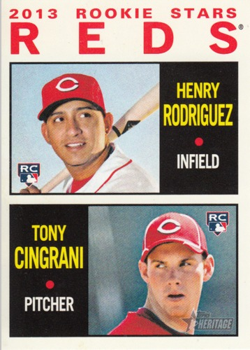 Photo of 2013 Topps Heritage #94 Henry Rodriguez RC/Tony Cingrani RC