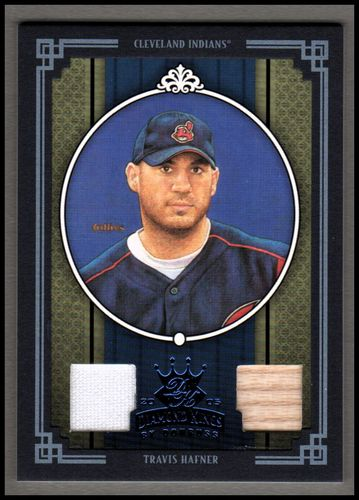 Photo of 2005 Diamond Kings Materials Framed Blue #339 Travis Hafner Bat-Jsy/100