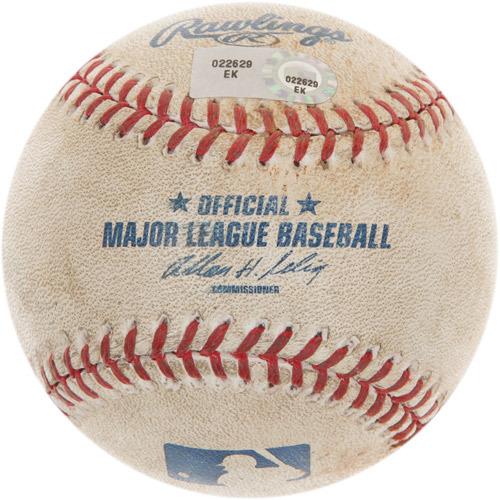 Game-Used Baseball from Giancarlo Stanton's 100th Career Homerun Game